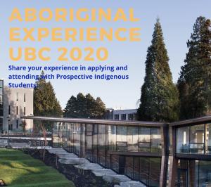 UBC Aboriginal Experience 2020 // Deadline February 21st